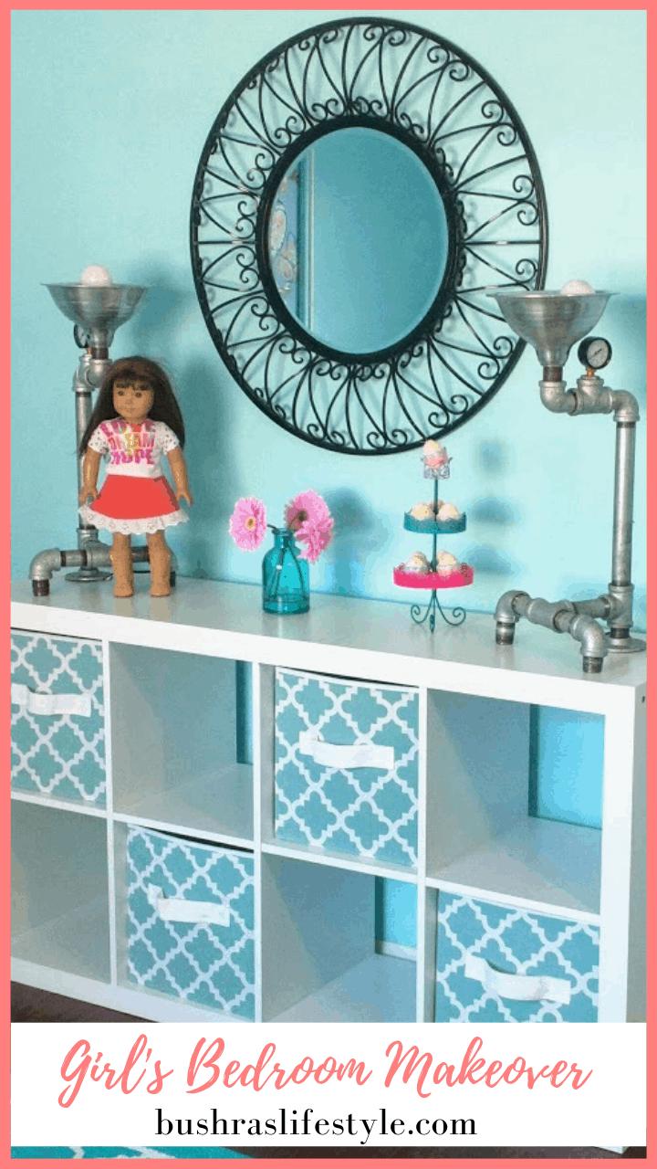 Frozen Inspired girl's bedroom makeover