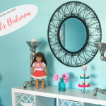 Before and after makeover for girl's bedroom