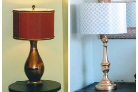 HOW TO TRANSFORM A LAMP SHADE WITH CONTACT PAPER