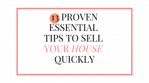 how to sell a house fast