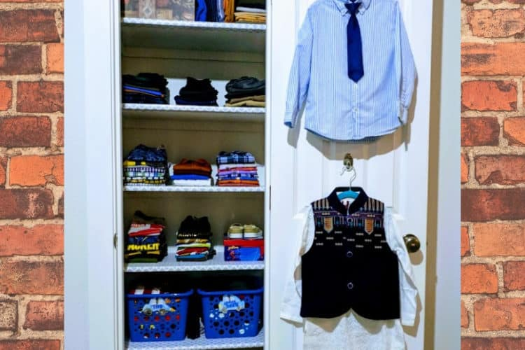 Before & After Organized Little Boy's Bedroom Closet