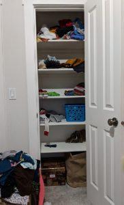 organized closet for boys