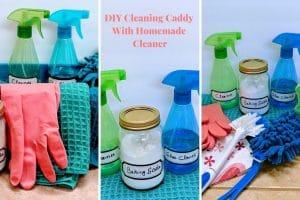 diy cleaning caddy