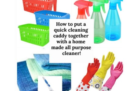 Check Out This Cool DIY Cleaning Caddy Under 10!