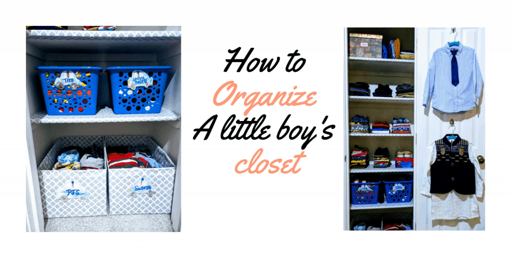 How To Organize A Little Boys Bedroom Closet 1