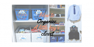 how to organize a little boys bedroom closet