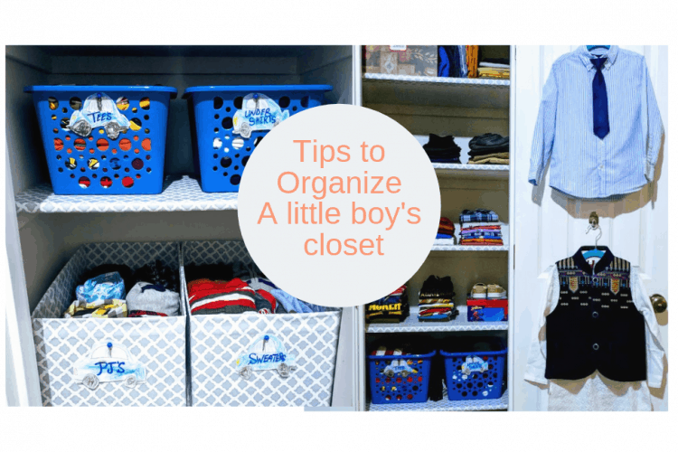 Before & After Little Boy's Closet
