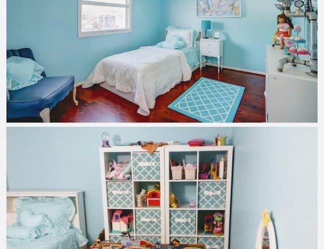 BEFORE & AFTER GIRL'S BEDROOM MAKEOVER