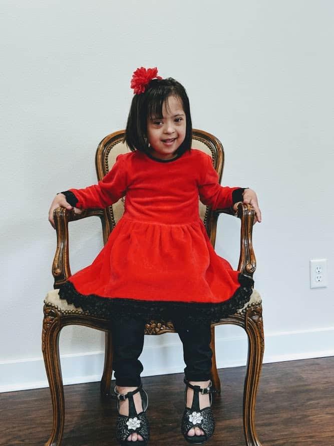 zoha wearing red
