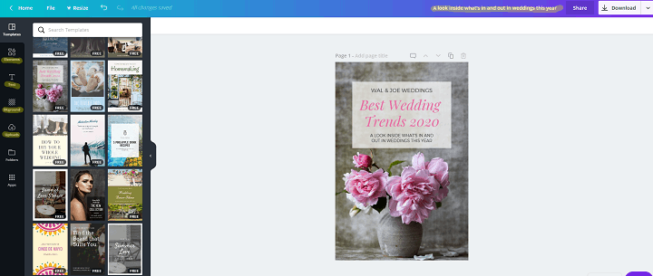 How to create Pinterest graphics with Canva for Free