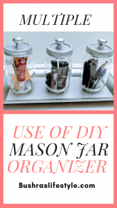 DIY mason jar organizer 1