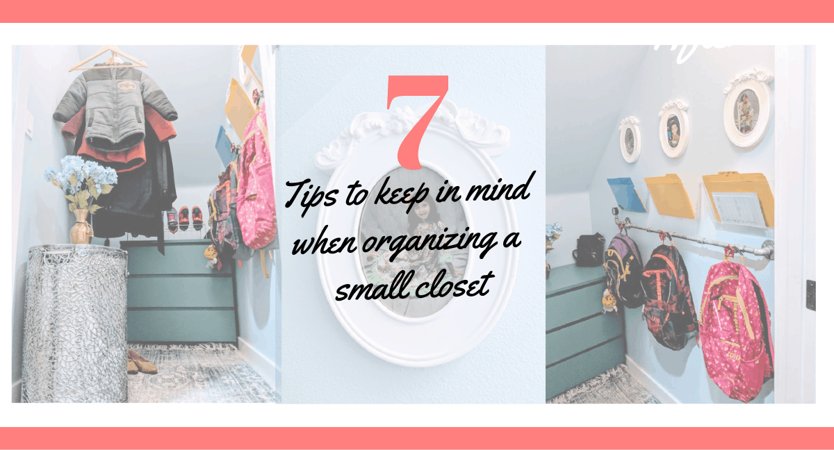 How to Organize a small closet