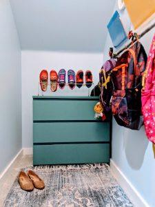 coat closet dresser and shoes