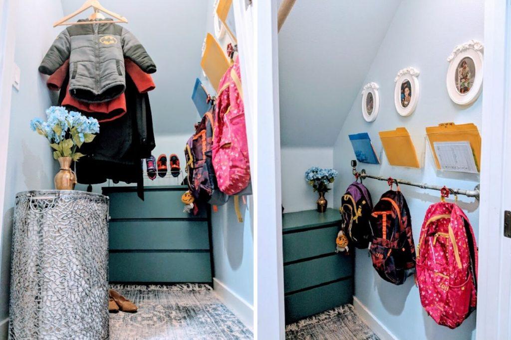 organize small closet