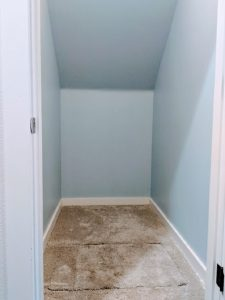 painted coat closet