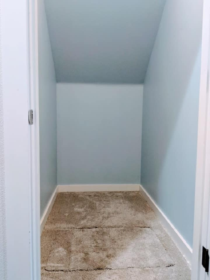 painted coat closet