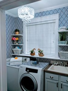 small diy laundry room makeover