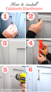 how to install cabinets hardware