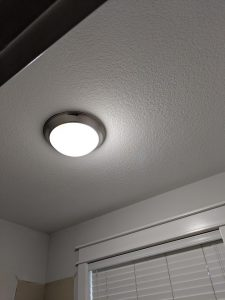 Laundry room ceiling