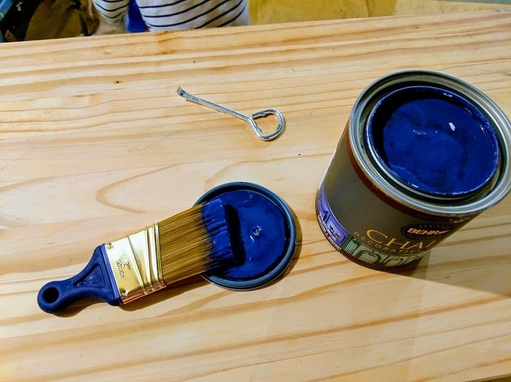 timeless blue chalk paint