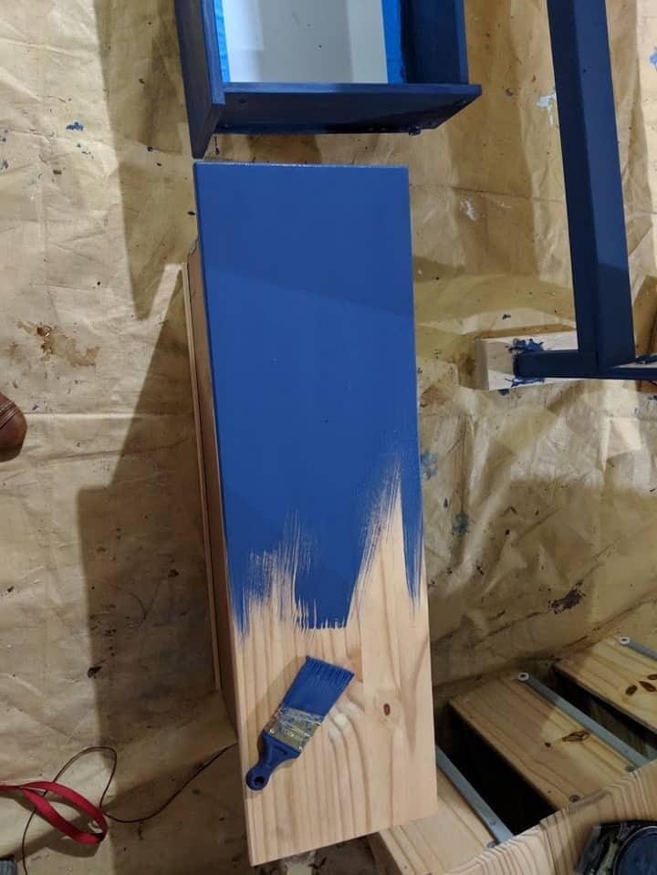 a painted dresser