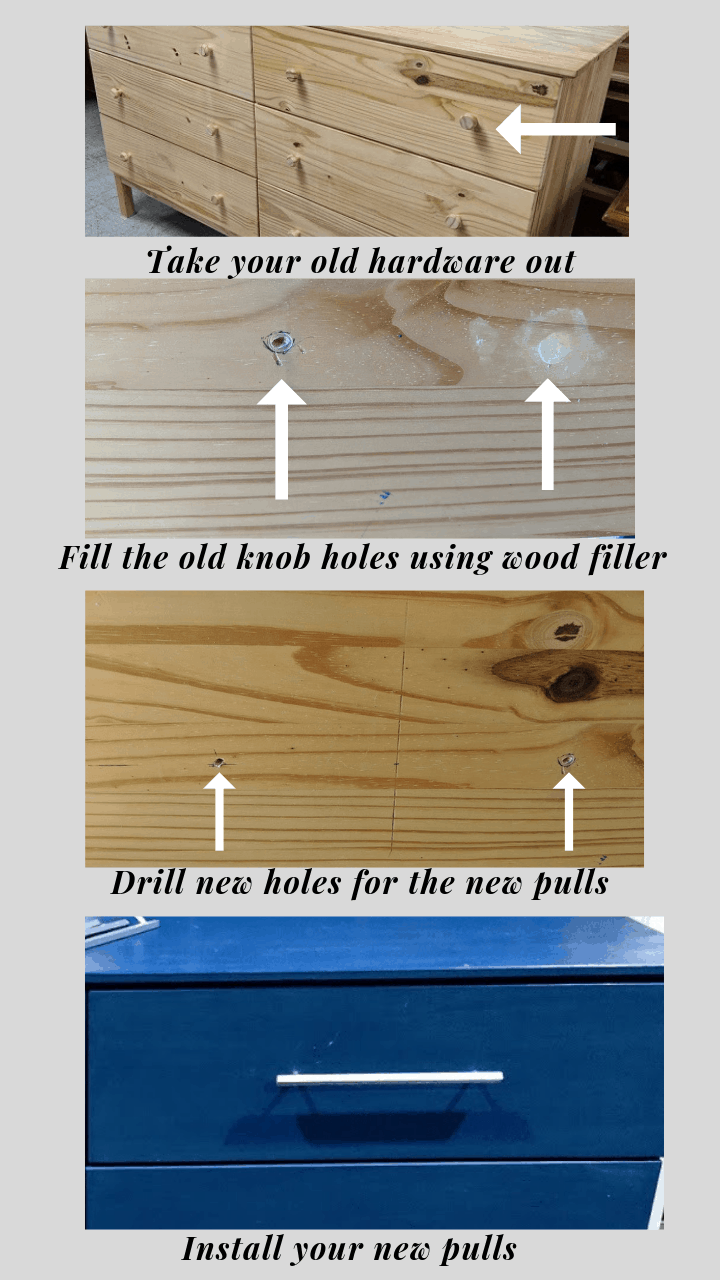 how to change drawer's pulls (2)