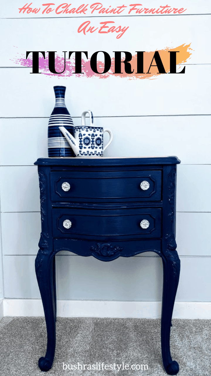 how to chalk paint furniture