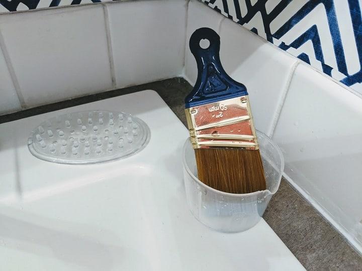 how to clean brush paint brush