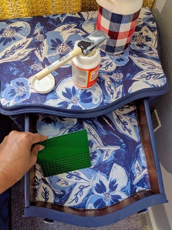 drawer liner blue
