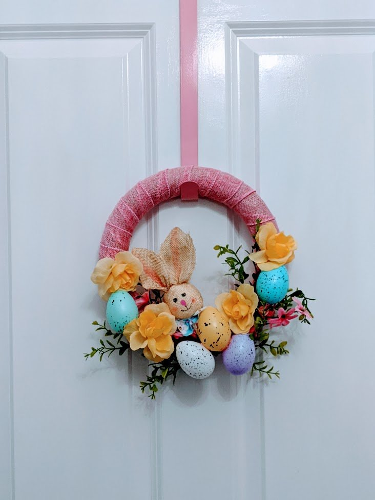 Easter bunny wreath diy