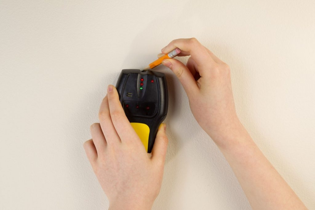 measure the wall with stud to place shiplap