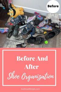 kids shoe organization