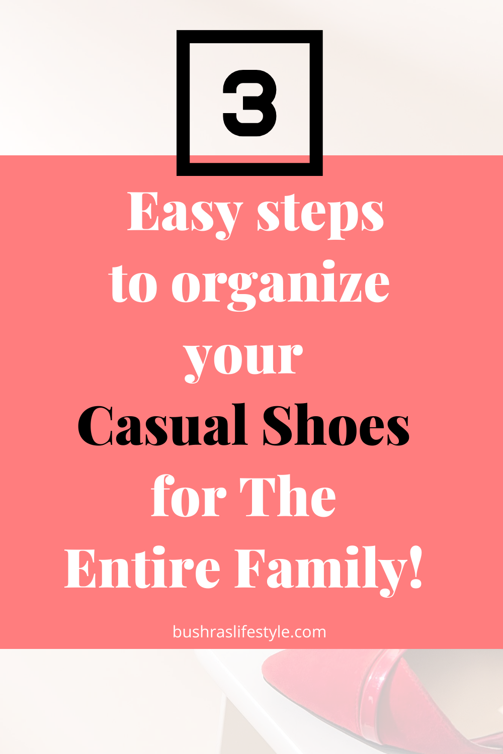 how to organize shoes in a small closte