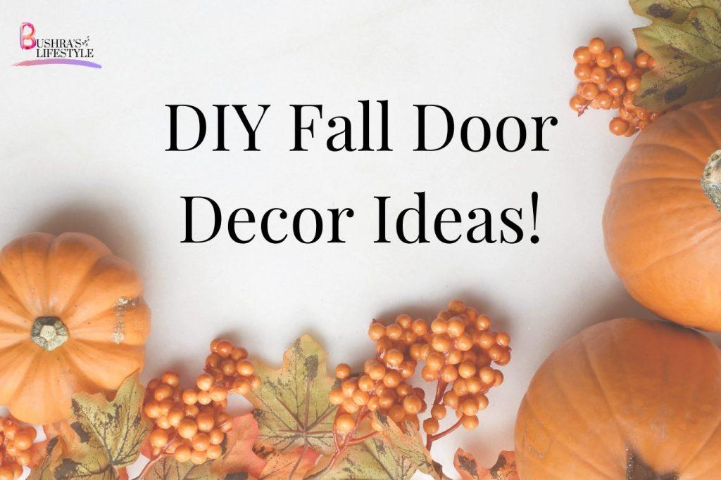 diy fall door decor ideas