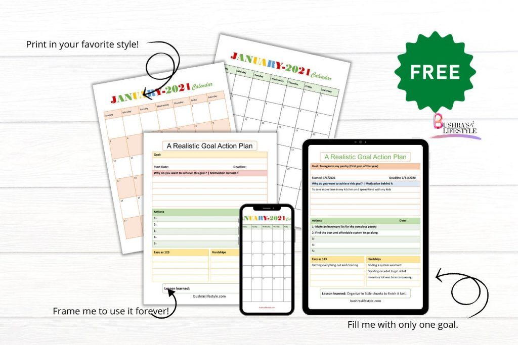 free goal setting worksheet printable
