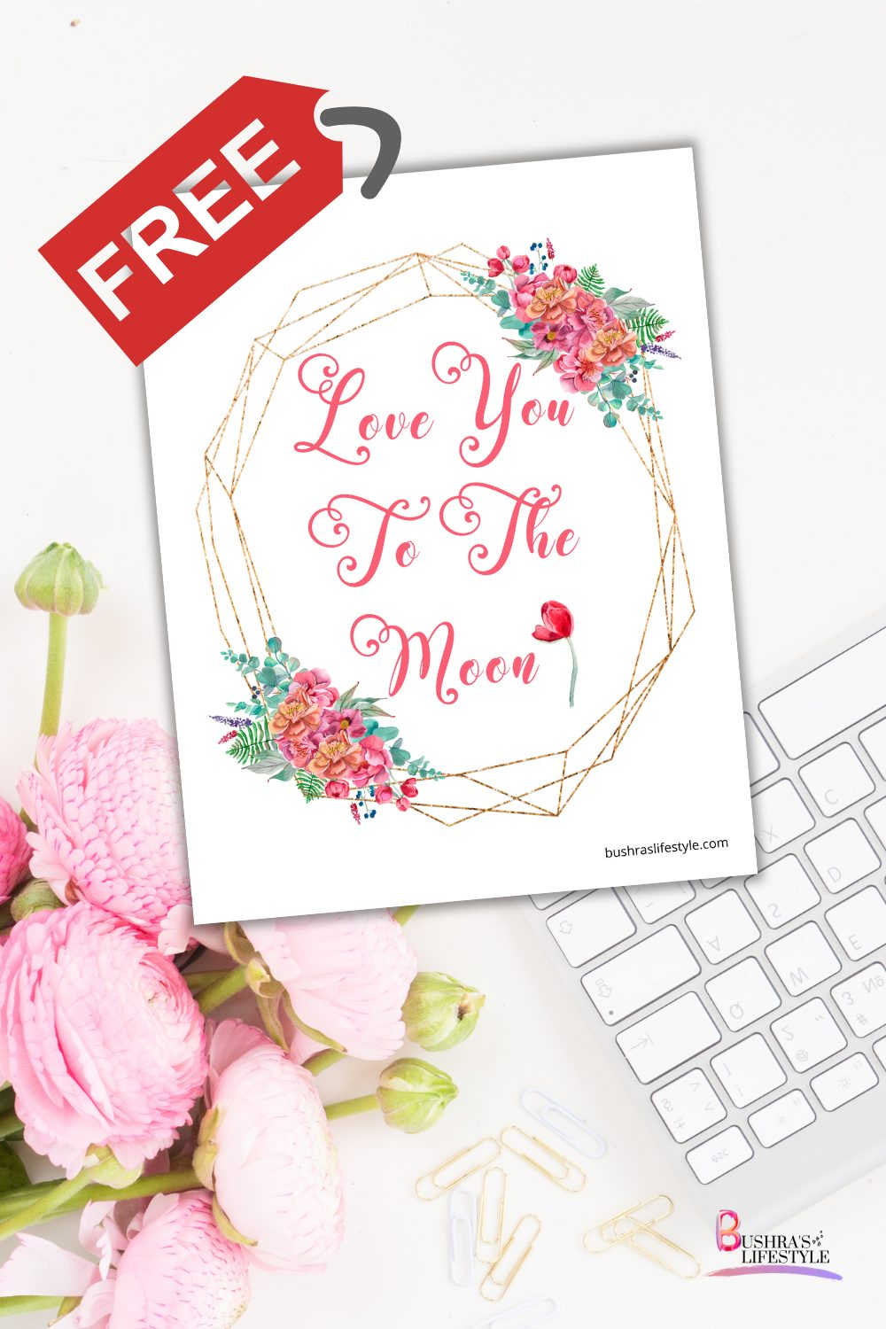 love you to the moon printable for free