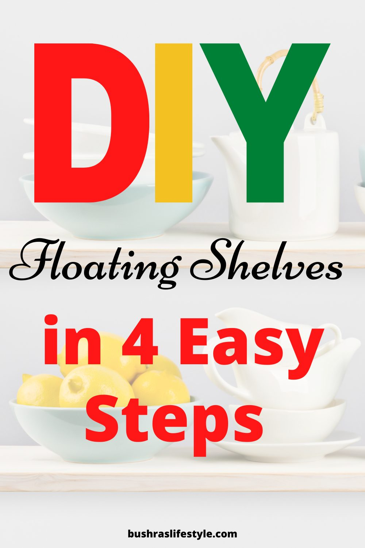 white floating shelves diy